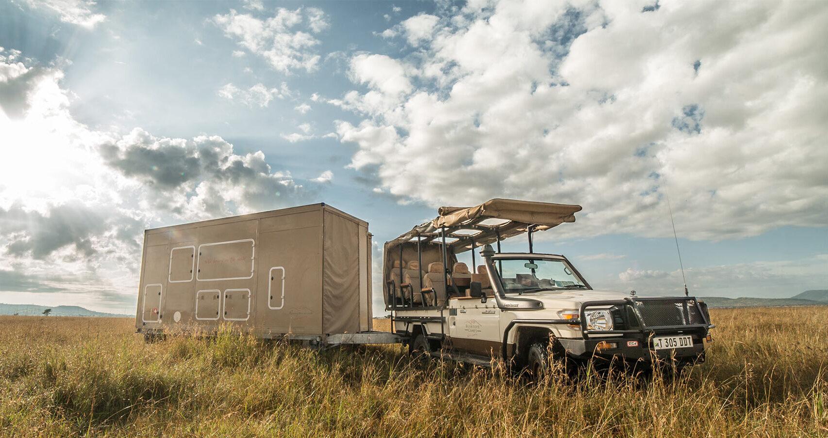 Roving Bushtops rover on trailer